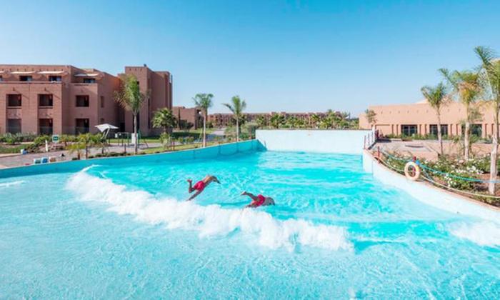De 1-9 o 14 noches en Marakech para 2 adultos y 1 niño con todo incluido y opción de cena temática en Aqua Mirage Club desde 79€