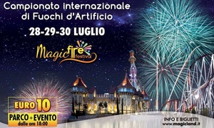 Magic Fire Festival - Rainbow MagicLand - Roma: Ingressi al Magic Fire Festival - 28, 29 o 30 luglio al parco divertimenti Rainbow MagicLand di Roma (sconto fino a 17%)