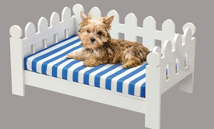 Wooden Picket Fence Pet Bed with Cushion at Wooden Picket Fence Pet Bed with Cushion, plus 9.0% Cash Back from Ebates.