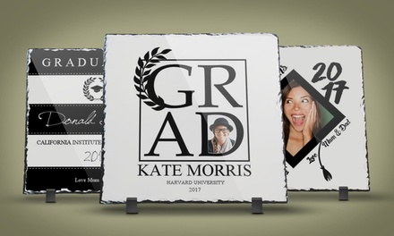 One or Two Personalized Graduation Photo Slates with Free Card from Printerpix (Up to 93% Off)