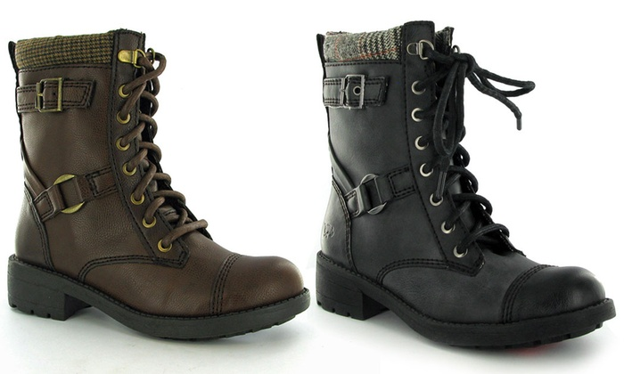 Groupon Goods Global GmbH: Women's Rocket Dog Military-Style Boots for £29.98 With Free Delivery (57% Off)
