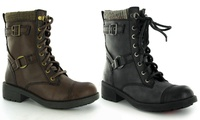 Women's Rocket Dog Military-Style Boots for £29.98 With Free Delivery (57% Off)