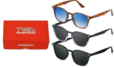 Lote de 3 gafas de sol Twig Concept Milano Premium Renoir