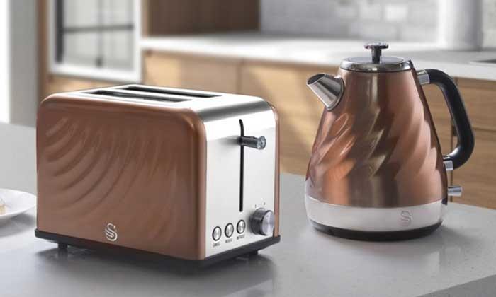 Swan Copper Twist Kitchen Set