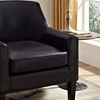 Pauline Brown Faux Leather Club Chair