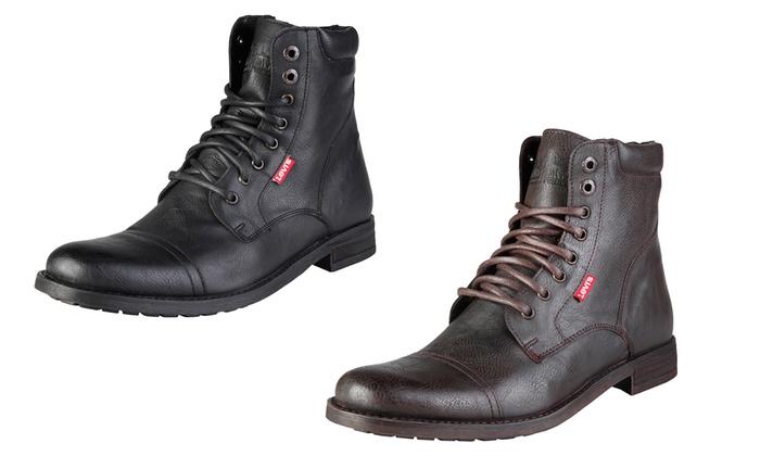 meilleur site web c353c 75048 Boots Levi's pour homme en cuir   Groupon