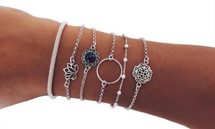 1 ou 2 lots de 6 bracelet argentés