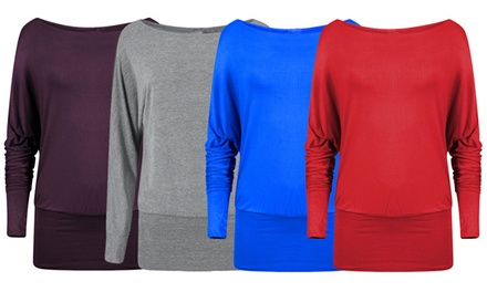 Women's OfftheShoulder Batwing Tops for £6.98