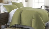Deals on 3-Pc Merit Linens Double Brushed Microfiber Comforter Cover Set