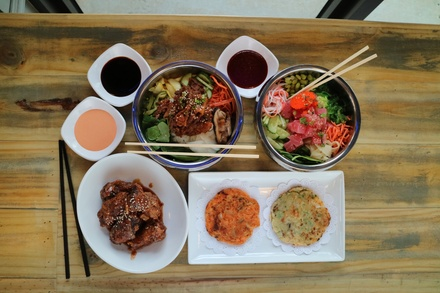 Korean Street Food for Two or Four at Gakaii Asain Fusion (Up to 46% Off). Two Options Available.