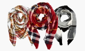 Sociology Women's Plaid or Solid Blanket Scarves at Sociology Women's Plaid or Solid Blanket Scarves, plus 6.0% Cash Back from Ebates.