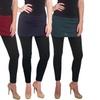 Women's Supersoft Cotton-Blend Skirt Leggings (3-Pack) (Size S/M)