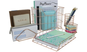 Sorbus Metal Wire Desk Organizer Set (5-Piece)
