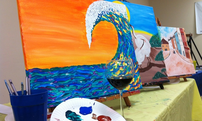 Paint 'n Pour - Redondo Beach: Painting and Wine Event for One, Two, or Four at Paint 'n Pour (Up to 50% Off)