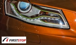 Firstop de Romagnat: Rénovation des 2 optiques de phares avant avec 50 points de contrôle du véhicule à 39,90 € chez Firstop de Romagnat