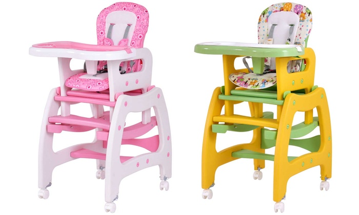 Costway 3 In 1 Baby High Chair Rocking And Play Table