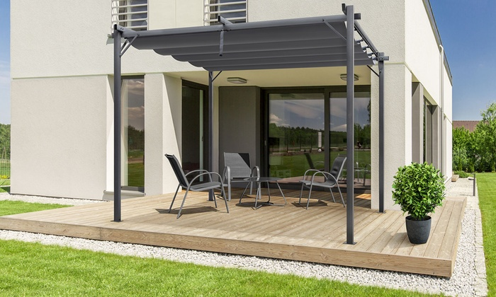 pergola toit coulissant sao paulo groupon. Black Bedroom Furniture Sets. Home Design Ideas