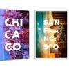 City Skyline and Typography Art