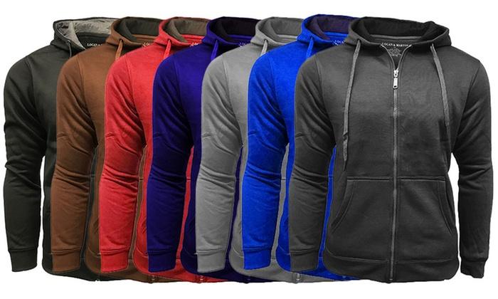 Men's Fleece-Lined Zip-Up Hooded Sweatshirt