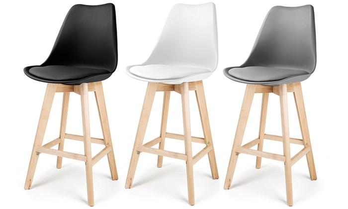lot tabourets bar scandinaves laikan groupon. Black Bedroom Furniture Sets. Home Design Ideas