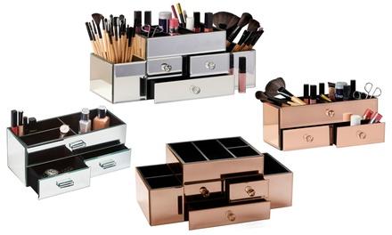 Mirrored Cosmetic Storage Organisers
