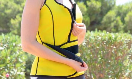 Gilet sauna sport avec zipper minceur pour femme