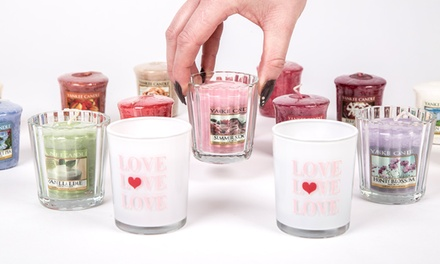 Yankee Candle Holder with Votive Sampler Candles for £9.98