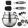 Culinary Edge Stainless Steel Mixing Bowl Set (13-Piece)