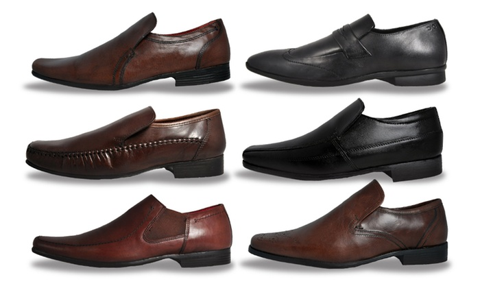 Red Tape Men's Leather Slip-On Shoes for £12.98