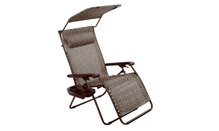 Bliss Deluxe Xl Zero Gravity Recliner Chair With Canopy