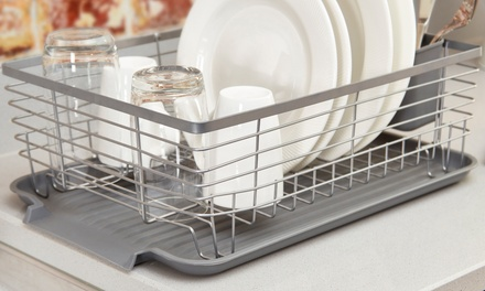 Tower Compact Dishrack with Two Cutlery Holders