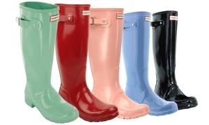 Hunter Women's Original Tall Gloss or Tall Rain Boots (5, 6, 7, 10)