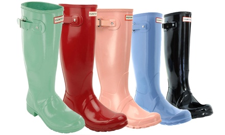 Hunter Women's Original Tall Gloss or Tall Rain Boots (Sizes 5, 6, 7)