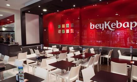 Menú con kebap o durum, patatas, bebida y opción a postre para 2 personas desde 9,95 € en BEYKEBAP & NAMM