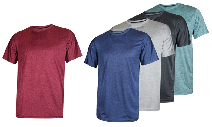 0a7f45552 Real Essentials Men's Dry-Fit Active T-Shirt (5-Pack) | Groupon