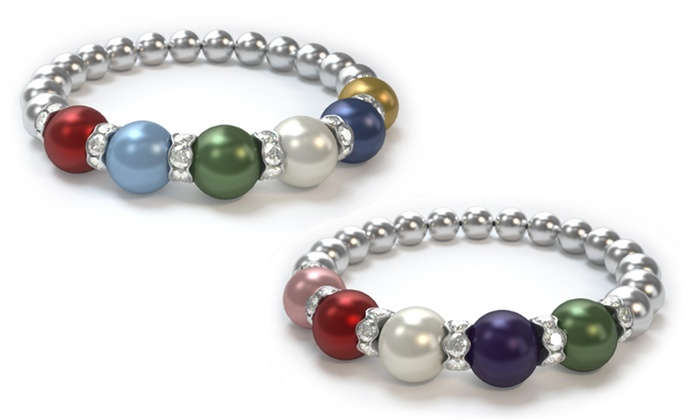 Pearls by Laurel: Swarovski Pearl Mother's Bracelet (Up to 47% Off)