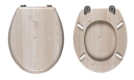 18 inch toilet seat. Beldray White Oak Effect 18 inch Toilet Seat  LA033710WOAK from Groupon UK