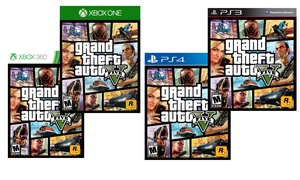 Grand Theft Auto V for PS3, PS4, Xbox 360, or Xbox One