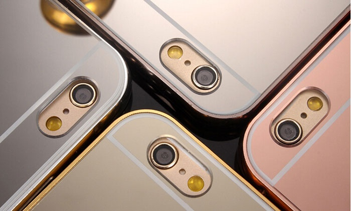 Mirror bumper case for iphones groupon goods for Double mirror effect