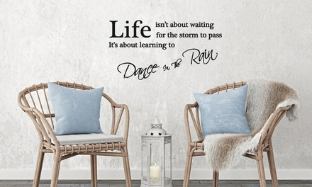 One, Two or Five Wall Quotes Stickers in Choice of Design