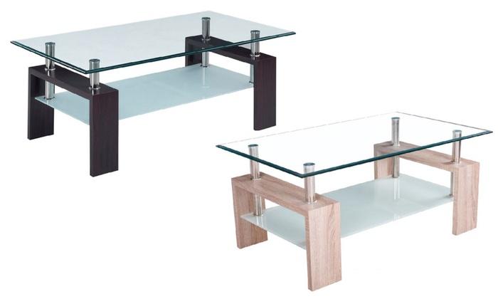 Tavolino da salotto a 2 ripiani | Groupon Goods