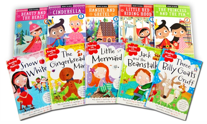 70% off Classic Fairytale Learning Readers Kids' Book Set (10-Piece)