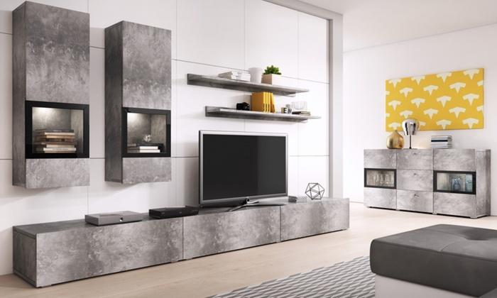 Tv Meubel Wand.Tot 51 Op Wand En Televisiemeubel Baros Groupon Producten