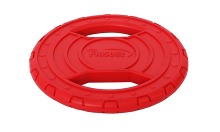 Pet Life Frisbee Durable Chew And Fetch Teether Dog Toy