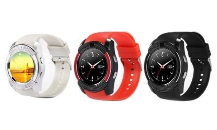 V8 smartwatch met option tracker voor telefoon, in 3 verschillende kleuren voor € 34,99