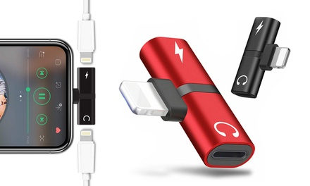 1 of 2 dubbele Lightning adapters voor iPhone