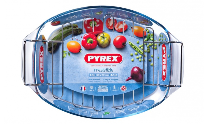 Pyrex Oval Roaster with Rack