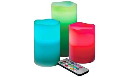 jml remote controlled led candles groupon. Black Bedroom Furniture Sets. Home Design Ideas
