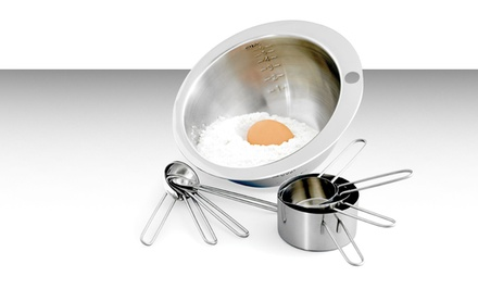 9-Piece Stainless Steel Mix and Measure Set.