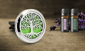 Aromatherapy Essential Oil Car Vent Diffuser with Two Optional Oils